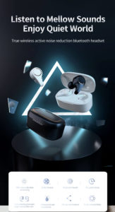 Noise Cancelling Bluetooth Earbuds